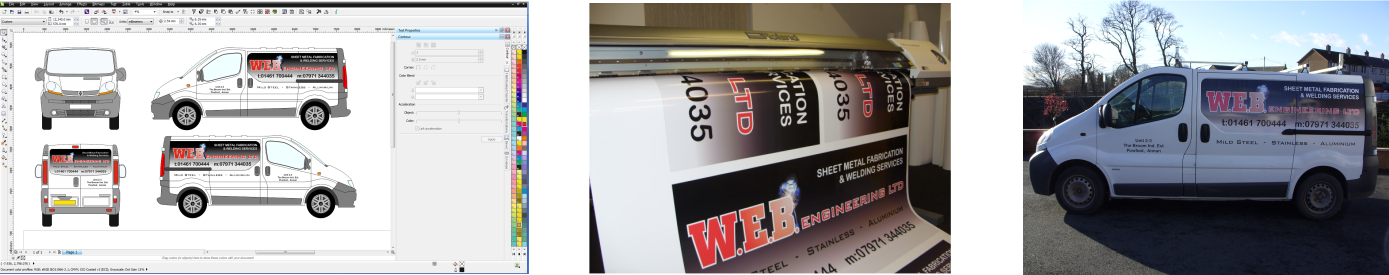 banner image of the process of vehicle graphics