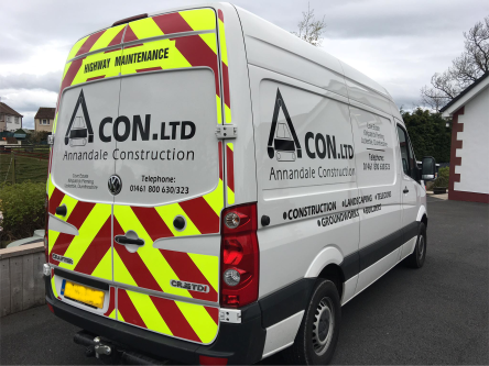 large van with chapter8 chevron