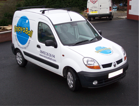 small size van in-vinyl with logo