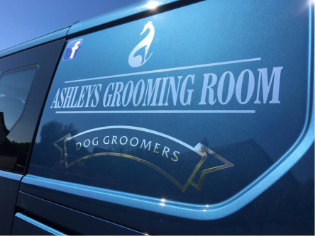 chrome vinyl van graphic sign