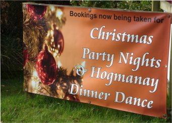 image of banner for christmas xmas party