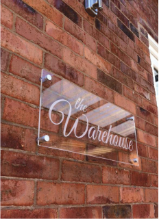 clear see through wall sign