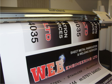 image of digital printing process roland versa printing