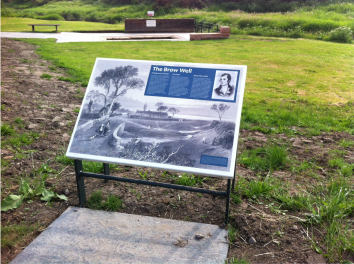 image of interpretation panel on metal frame