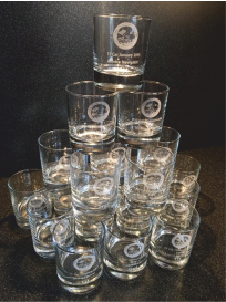 image of laser engraved whisky glasses