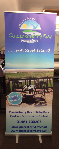 image of popup banner for residential touring caravan park