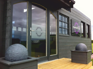 retail exterior sign for health spa powfoot