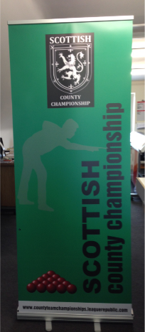 Rollup banner for event advertising