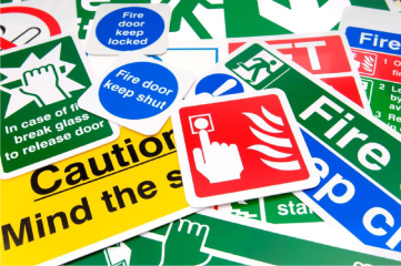 image of safety signs