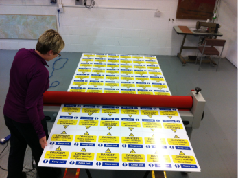 saftey sign printing process