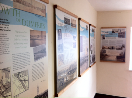 image of wall mounted interpretation panel wooden framed