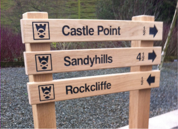 image of way sign paths and walks Dalbeattie Sandyhills Rockcliffe